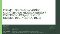 Síndrome de Edwards Trissomia do Cromossomo 18 Genética Humana Slide