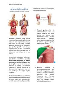 Anatomia Descritiva - Introdução a Anatomia