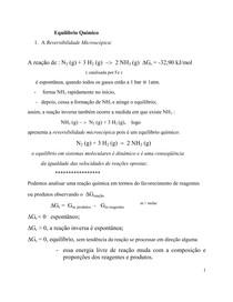 Aula 6 - Equilíbrio Químico