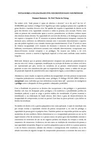 NOTAS SOBRE A INCAPACIDADE CIVIL DOS EXCEPCIONAIS E DOS PRÓDIGOS