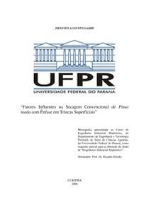 Fatores Influentes na Secagem Convencional de Pinus