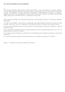 Av2 - Estruturas de Madeira e Estruturas Metálicas