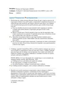 Avaliacao N2 Tecnicas de Negociacao 2
