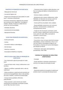 PROMOÇÃO DE SAÚDE BUCAL NA CLÍNICA PRIVADA