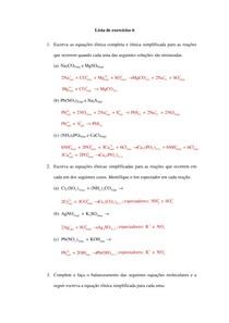Soluções Lista de exercícios 6