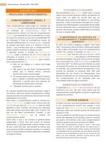 Resumo NP2 - Psicologia Comportamental
