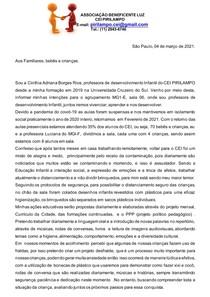 carta de intenção 2021