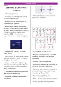 Estrutura e função das proteínas