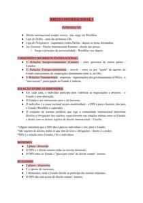 DIREITO INTERNACIONAL 1 - INTRODUÇÃO