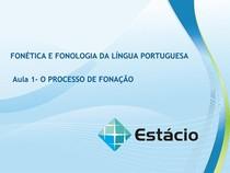 Aula de Fonética e fonologia