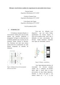 Difração e interferência: medição do comprimento de onda médio da luz branca
