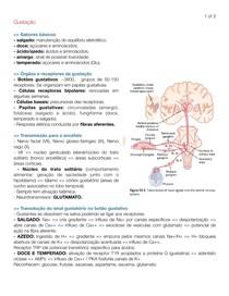 Gustação - fisiologia