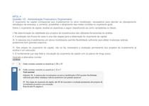 APOL 4 AVALIAÇÃO DE EMPRESAS E ADMINISTRAÇÃO FINNACEIRA E ORÇAMENTARIA