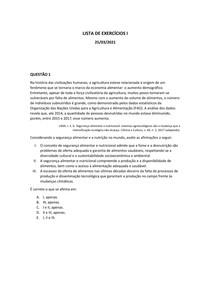 LISTA DE EXERCÍCIOS I