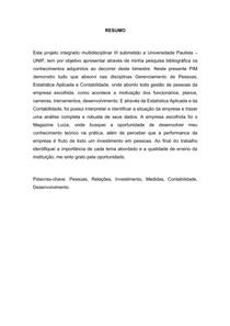 PIM III - MAGAZINE LUIZA- RH