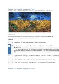 Apol Artes Visuais, Atelier Pintura- Nota 100
