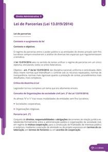 Nova lei de parcerias - Lei 13.019 2014 - Resumo