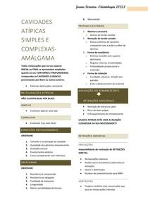 CAVIDADES ATÍPICAS SIMPLES E COMPLEXAS