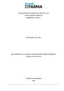 Relatório de Bioquímica- Alanina Aminotrsnaferase (TGP)