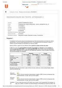 Revisar envio do teste  ATIVIDADE 2 – FINANÇAS DE LONGO ..   ATV 2