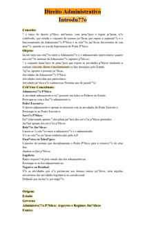 Direito Administrativo - Introdução