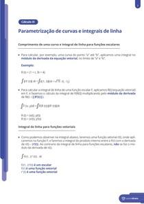 Parametrização de curvas e integrais de linha - Resumo