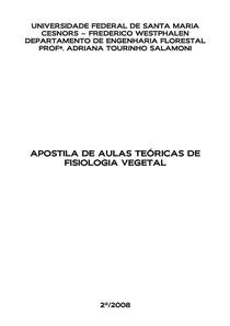 Apostila - Fisiologia Vegetal