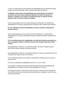 Exercícios Repetibilidade MGA