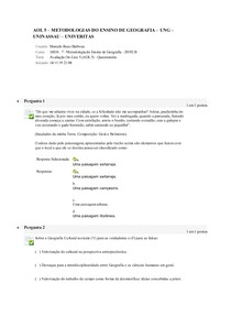 Aol 5 - metodologia do ensino de Geografia