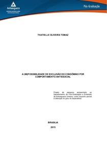 Pre Projeto   Pos Processo Civil   A im possibilidade de exclusão do condomino por comportamento antissocial