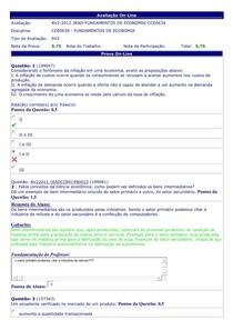 Fundamentos de Economia - (33) - AV2 - 2012.3