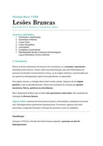 Lesões Brancas - Líquen Plano, Leucoplasia e outros