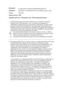 Fundamentos e História da Matemática Avaliação II