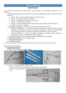Principais Instrumentais Cirúrgicos