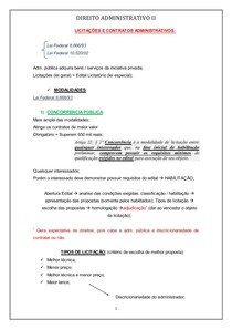 DIREITO ADMINISTRATIVO 2º bim. - 6º período