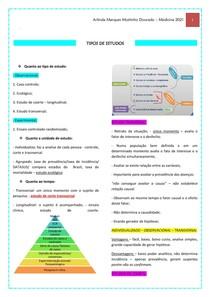 TIPOS DE ESTUDOS - HG III