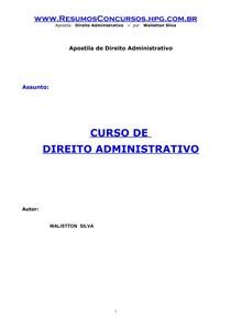 Walistton Silva - Curso de Direito Administrativo