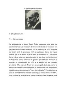 Durkheim Emile - A Sociologia de Durkheim (1)