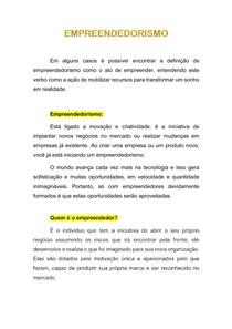 EMPREENDEDORISMO 1.1 - conceito