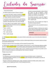 EXCLUIDOS DA SUCESSÃO