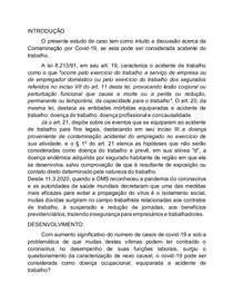 COVID 19 ACIDENTE DE TRABALHO?