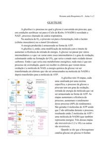 Resumo aula Bioquimica II - aulas 1 e 2