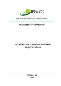 THALINE DE MATTOS CARBONARO - Relatório Estágio