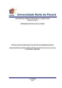 SETOR SUPERMERCADISTA ADMINISTRACÃO