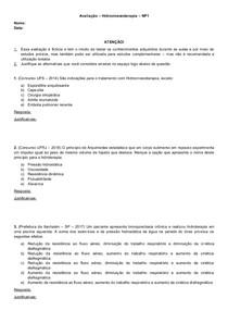 Avaliação Hidroterapia (23 questões)