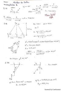 Mecânica vetorial para engenheiros Beer, Johnston 9 edição- Exercícios Resolvidos 2 Cap. 2, 3, 4.