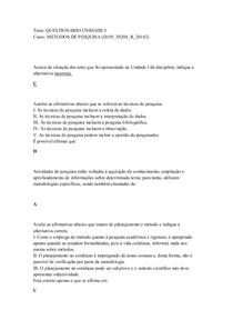 METODOS DE PESQUISA