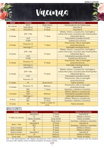 Calendário vacinal pediatria