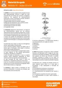 Módulo 6 - aula 03 04 - Segmentação e Gastrulação