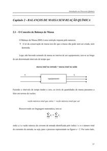 CAPÍTULO 2 -BALANÇO DE MASSA SEM REAÇÃO QUÍMICA